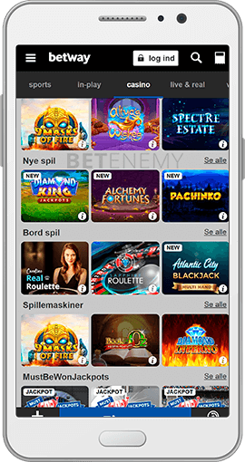 Betway mobil casino app til Android